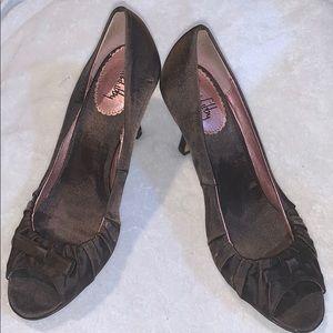 Sam &Libby little brown heels size 6 1/2